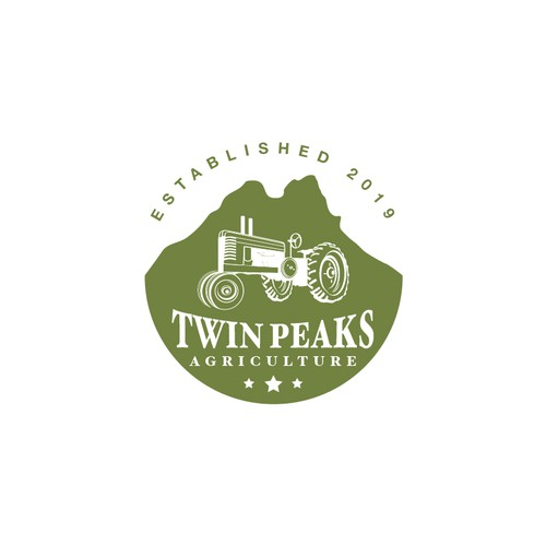 Twin logo with the title 'Twin Peaks Agriculture Design Concept'