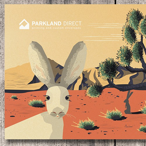 Promotional design with the title 'Parkland Direct Envelope Design'