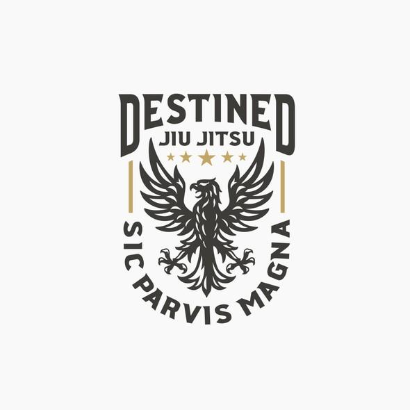 Academy brand with the title 'Destined Jiu Jitsu'