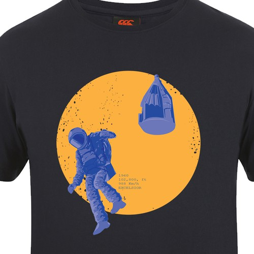 Circle t-shirt with the title 'excelsior design'