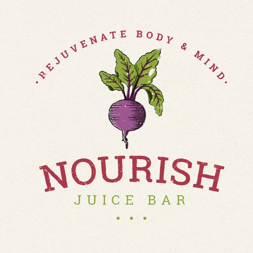 Smoothie logo with the title 'Have fun creating a new, hip juice bar logo!'