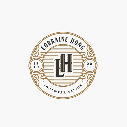 Frame logo with the title 'Lorraine Hong Footwear Design Logo'