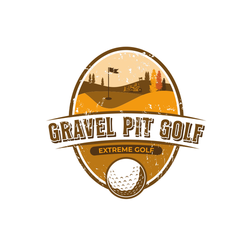 Extreme sport logo with the title 'Name the Extreme Golf Gravel Pit Contest'