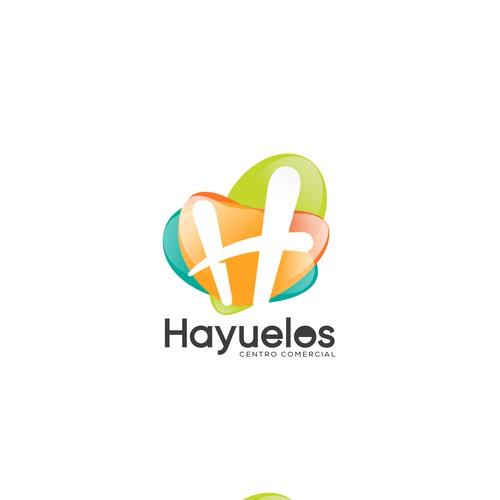 3D logo with the title 'Hayuelos Centro Comercial'