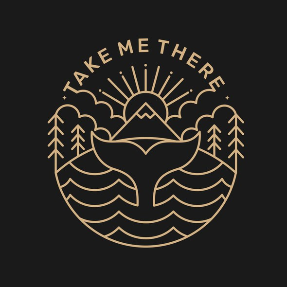 Pictorial logo with the title 'TAKE ME THERE'