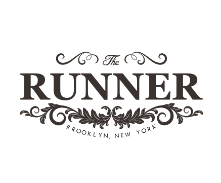 Chandelier logo with the title 'The Runner'