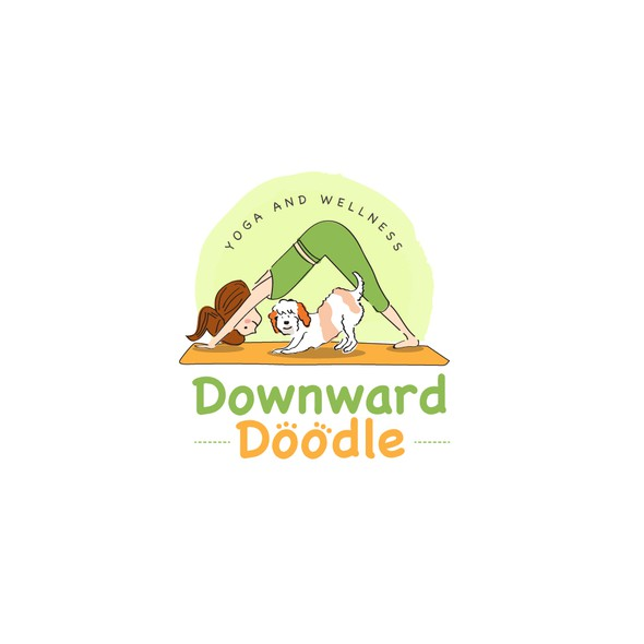Doodle logo with the title 'cute logo'