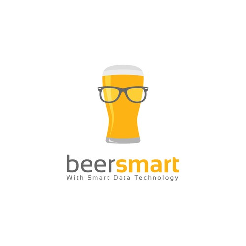 Glass brand with the title 'BeerSmart Logo'