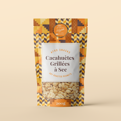 Snack packaging with the title 'Peanuts Package Design '