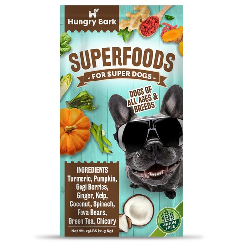 Toy packaging with the title 'Modern package design concept for dog food'