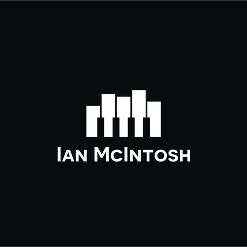 Piano logo with the title 'Creating a logo for recording musician / sound designer Ian McIntosh.'