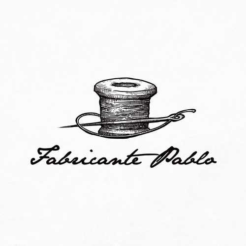 Sketch logo with the title 'Fabricante pablo new head wear brand'