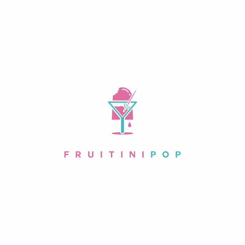 Popsicle logo with the title 'fruitinipop'