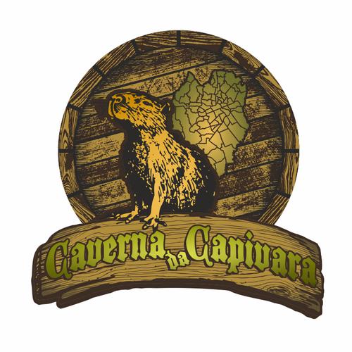 Tavern logo with the title 'Caverna da Capivara logo contest'