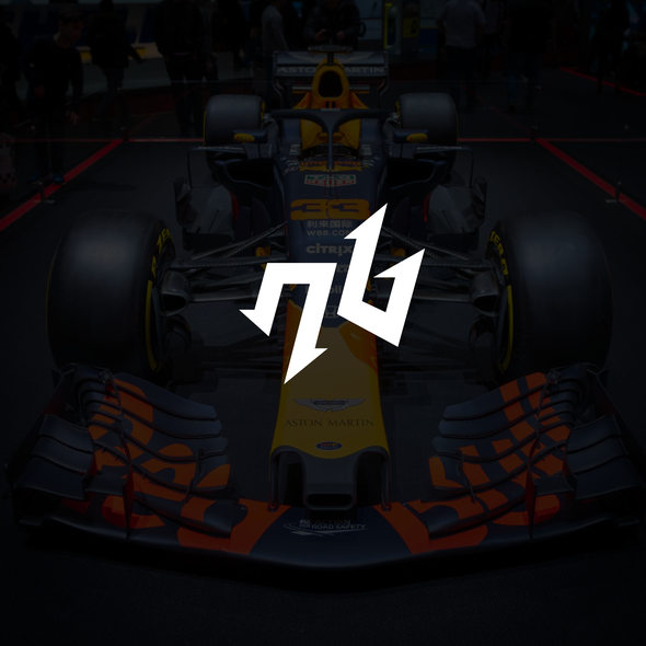 Racing team logo with the title 'NB Logo Design'