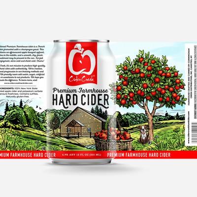 Cider Creek HardDesign a modern - heritage hard cider label for nationally awarded cider brand
