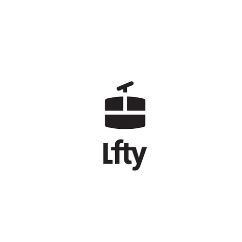 Snowboard logo with the title 'Logo design for LFTY'