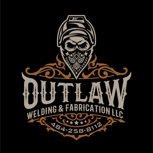 Bandana design with the title 'Outlaw welding '