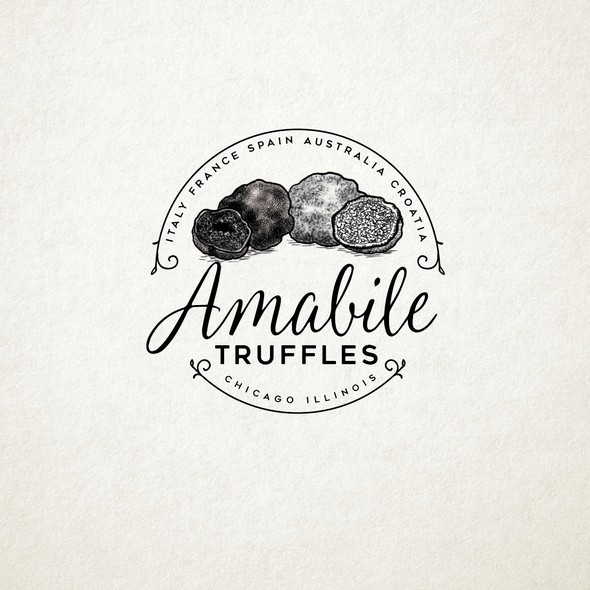 Truffle design with the title 'amabile'