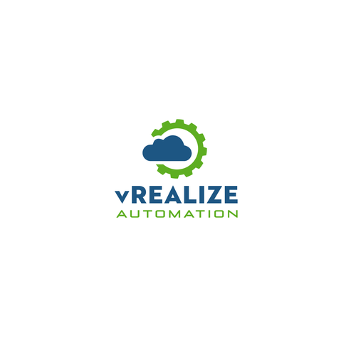 Automation logo with the title 'vRealize Automation logo design'