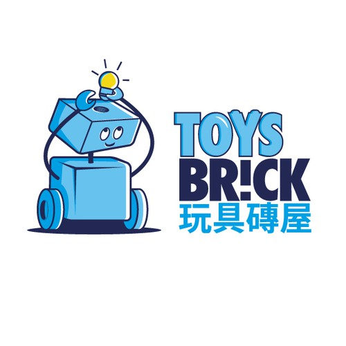 Toy logo with the title 'Toys brick'