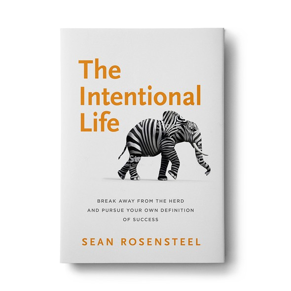 White background design with the title 'The Intentional Life - Book Cover'