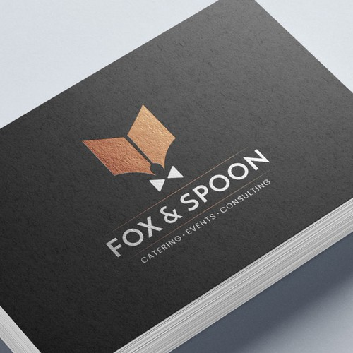 Abstract modern logo with the title 'Logo for a catering company'