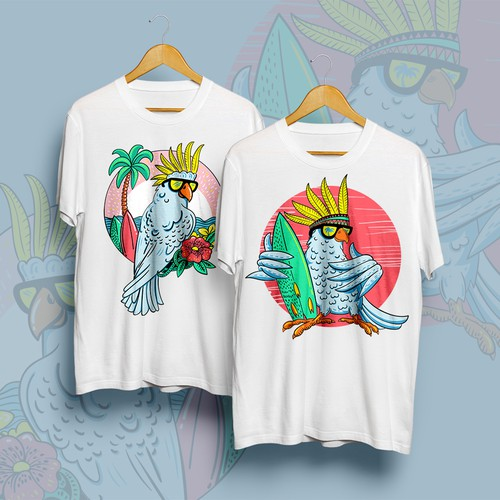 "Character t-shirt with the title '""Itchy Feather"" T-shirts'"