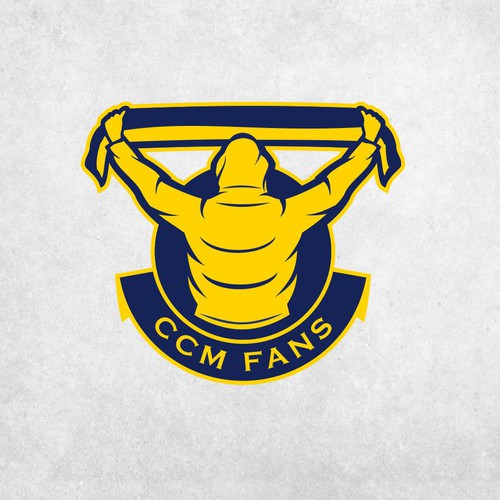 Football logo with the title 'CCM FANS LOGO'