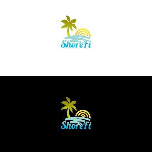 "Marina logo with the title 'Logo for ""Shore Fi""'"
