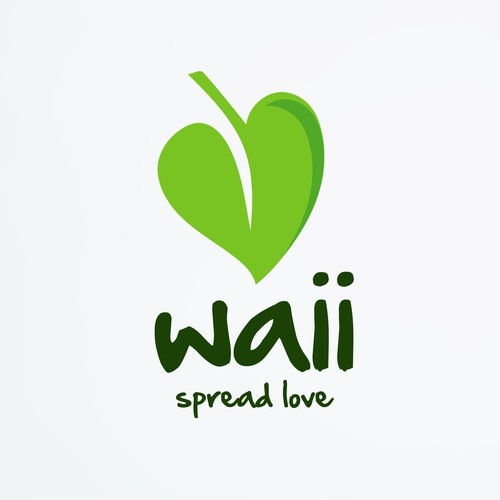 Health and wellness logo with the title 'Waii - Inovative organic food logo'