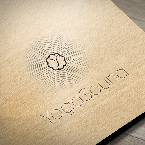 Soundwave logo with the title 'A warm, inviting design for YogaSound'