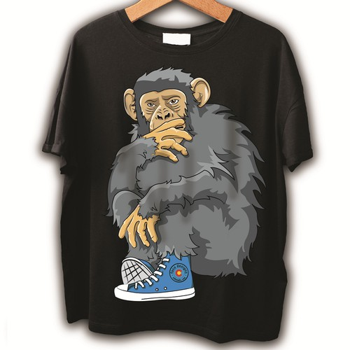 Monkey t-shirt with the title 'T-shirt Monkey'