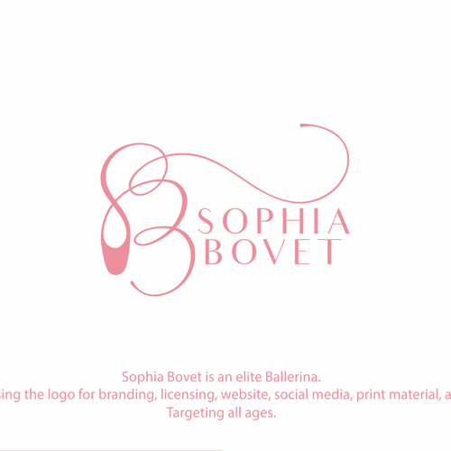 Ballerina logo with the title 'Sophia Bovet'