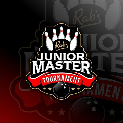 Bowling design with the title 'Logo concept for Junior Master Tournament'