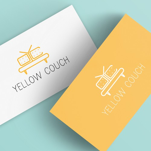 Sofa logo with the title 'Minimalist logo concept for career advisors'