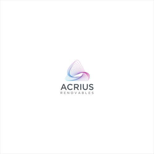 Solar energy logo with the title 'Acrius Renovables'