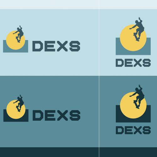 Skateboard design with the title 'DEXS // Skateparks Building'