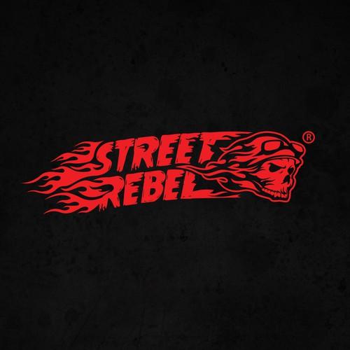 Street art logo with the title 'Street Rebel'