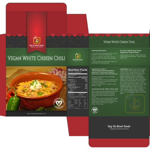 Noodles packaging with the title 'Create Consumer Grabbing Packaging for Brand Spanking New Vegetarian & Vegan Food Products'