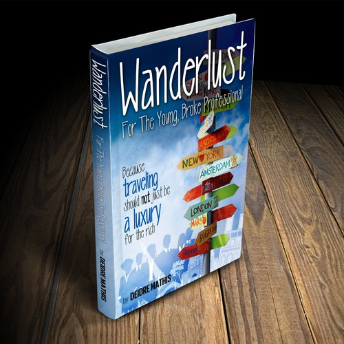 Life coaching design with the title 'Wanderlust Book Cover (Winning Design)'