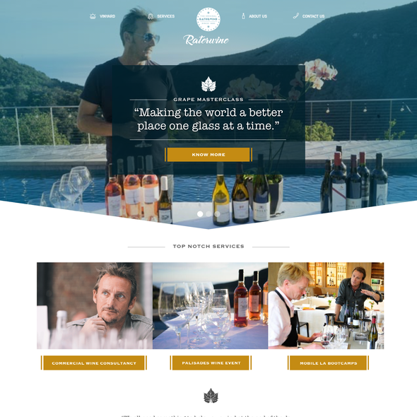 Web design brand with the title 'Wine Website entry'