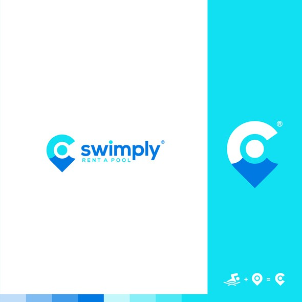 Swim design with the title 'swimply'