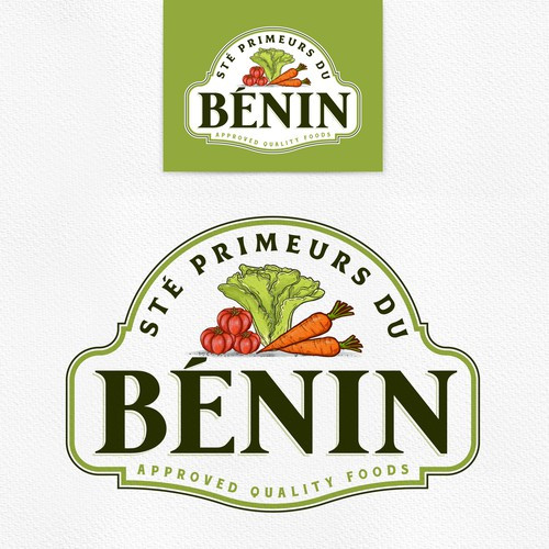 Sketching design with the title 'Sté Primeurs du Bénin'