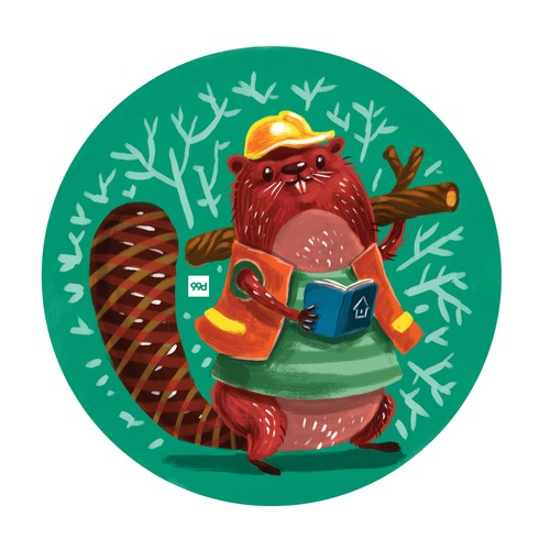 Builder design with the title 'Beaver The Builder'