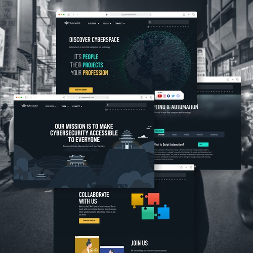 Security website with the title 'Blog Design'