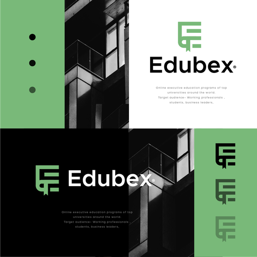 E logo with the title 'Edubex'