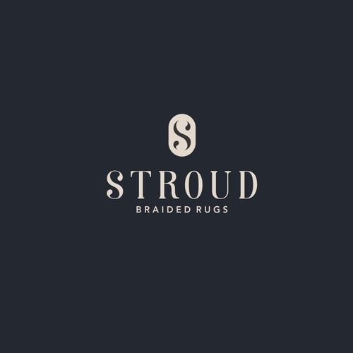 Home furnishing logo with the title 'Logo design for braided rugs'