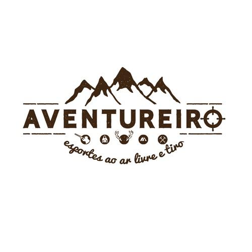 Shooting logo with the title 'Aventureiro'