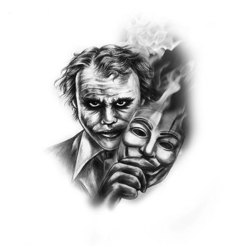 Joker design with the title 'The Joker'